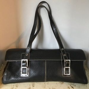Kenneth Cole leather black purse